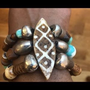 African inspired stretchy bracelet
